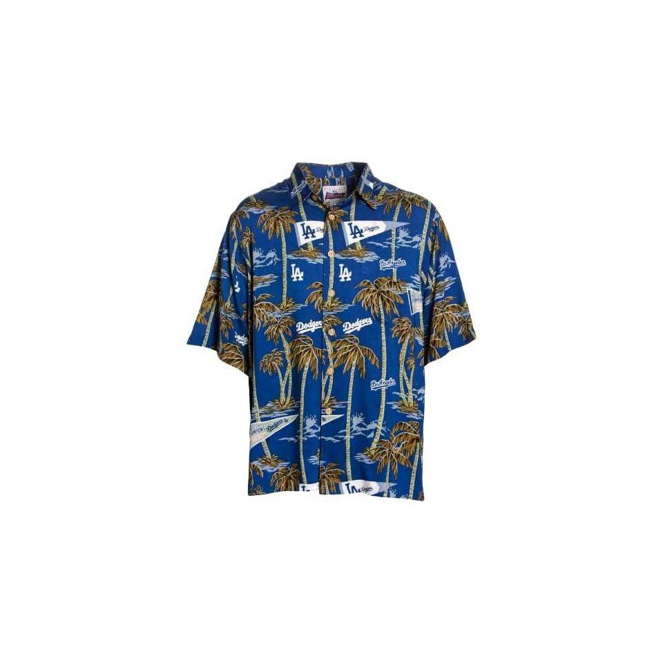 Reyn Spooner L.A. Dodgers Royal Blue Scenic Print Hawaiian Shirt on ... 9b5046a5f