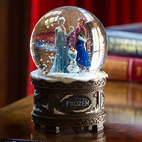 ■ディズニー アナと雪の女王■Disney FROZEN■オルゴール内蔵[♪Let it go] スノーグローブ フィギュア■Musical Snow Globe Figurine■エルサ アナ オラフ■Elsa Anna Olaf