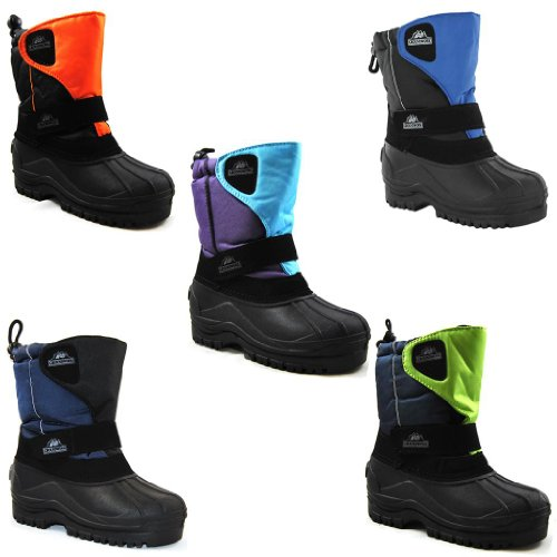 Kids Boys Girls Winter Snow Fur Thermal Muckers Waterproof Wellington Rain Boots