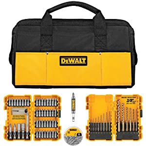 Dewalt - DWLOBAG4 - 80-Piece Drilling/Driving Utility Set INCLUDES FREE CONTRACTOR BAG