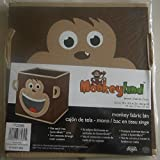 Monkeyland Monkey Fabric Storage Bin Organizer Brown Perfect for System Build Units