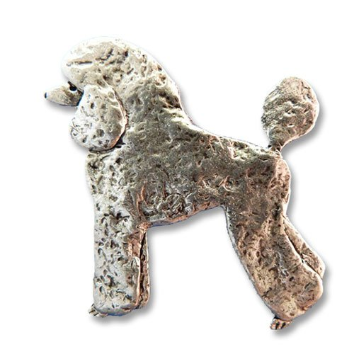 Pewter Poodle Pin by The Magic Zoo