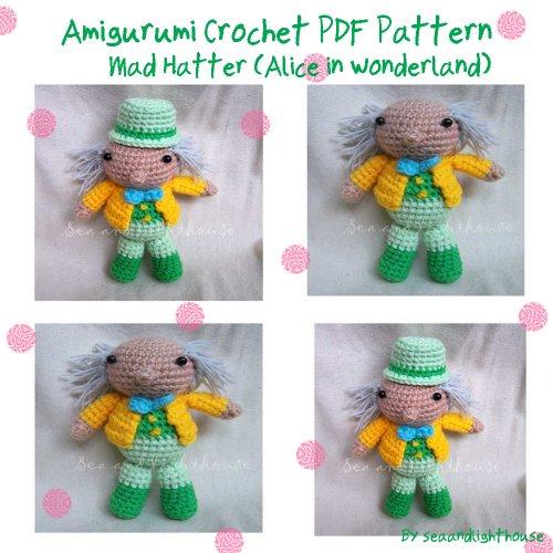 Mad Hatter From Alice In Wonderland Amirugumi Crochet Pattern