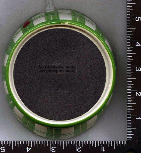 1 , Ceramic, Green & Cream, Personal Warmer,,23B3.4