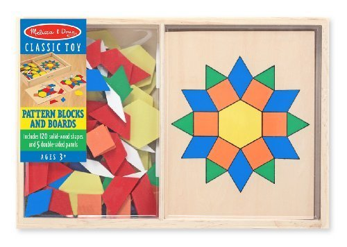 Melissa & Doug Pattern Blocks and Boards - 1