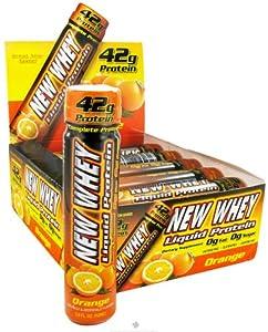 New Whey Liquid Protein 12 - 3.4 fl oz (100 ml) tubes Orange Protein Liquid Sho