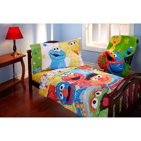 Sesame Street Scribbles 4-piece Toddler Bedding Set