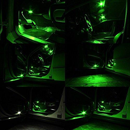 6 pack 194 green led light 12v 146lm amazenar car interior and exterior t10 6 smd 5630 chips. Black Bedroom Furniture Sets. Home Design Ideas