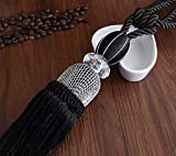 薩牧徳カーテンタッセル水晶のカーテン用球体装飾品 (ブラック)