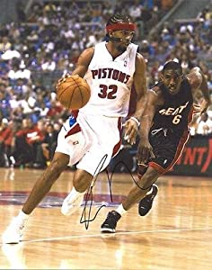 RICHARD RIP HAMILTON signed DETROIT PISTONS 11X14 PHOTO with COA - Autographed NBA... by Sports Memorabilia