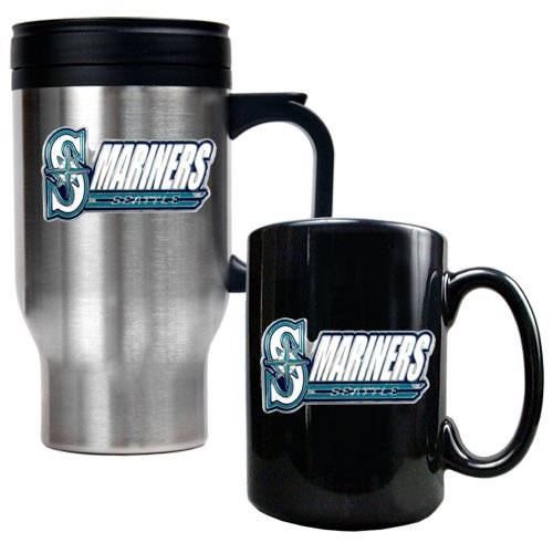 USA Wholesaler - GAP-TMGM2125-14 - Seattle Mariners MLB Travel Mug & Ceramic Mug set at Amazon.com