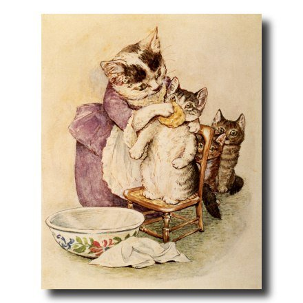 Beatrix Potter The Tale Of Tom Kitten Cat Kids Room Home Decor Wall Picture 8x10 Art Print