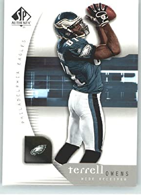 Terrell Owens - Philadelphia Eagles - 2005 SP Authentic Card # 67 - NFL Trading Card