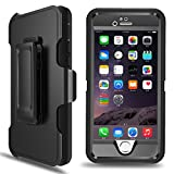 iPhone 6s Case,iPhone 6 Case MBLAI® Tough Defender [4 Layer][Rugged Rubber][Shock Absorbent][Drop Proof][Built-in Screen Protector][Max Protective] Case Cover For iPhone 6/6S [4.7 inch](Black)