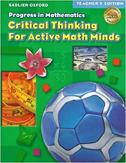 progress in mathematics critical thinking for active math. Black Bedroom Furniture Sets. Home Design Ideas