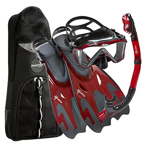 Phantom Aquatics Legendary Mask Fin Snorkel Set with Mesh Bag,