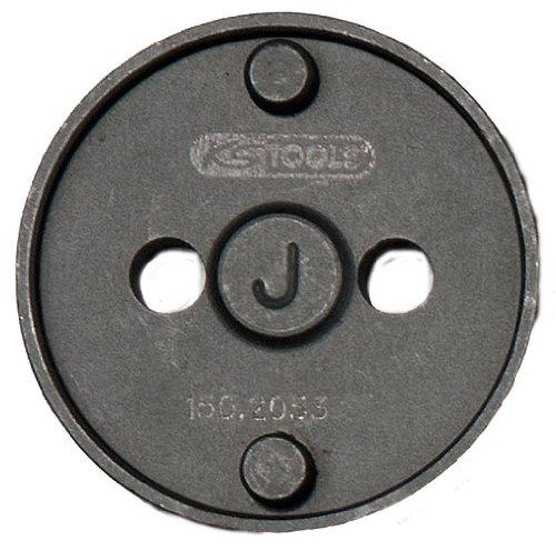 KS Tools 150.2053 - Adattatore J per utensile per la lavorazione dei pistoncini dei freni, Ø 42 mm