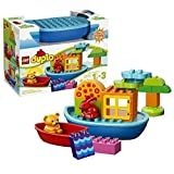 Lego Duplo Year 2014 Toddler Starter Set #10567 Toddler Build And Boat Fun With 2 Boats Plus Red Rabbit And Cute...