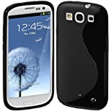 Cimo S-Line Back Flexible Cover TPU Case for Samsung Galaxy S III S3 (AT&T, T-Mobile, Sprint, Verizon, US Cellular) - Black