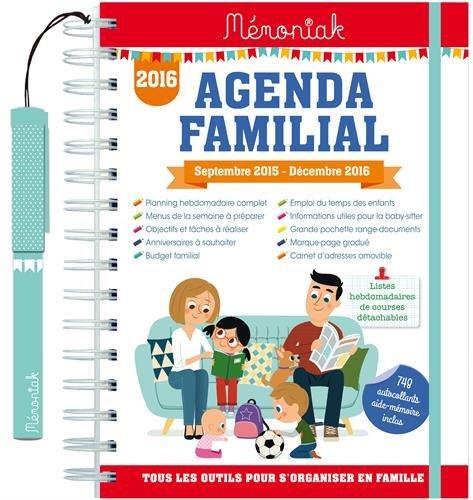 Agenda familial Memoniak 2015-2016