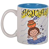 """Me! Zodiac """"Aquarius"""" Coffee Mug(Painted Inside), 325ml"""