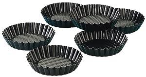 Zenker Mini Tart Pans, Nonstick, Set of 6, 4-Inch by Zenker