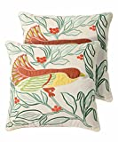Pegasus Home Fashions Eden Embroidery Decorative Pillows (2 Pack)