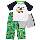 51eZFsKumoL. SL160  Carters Boys T rex Racing 3 Piece Pajama Set (24 months)