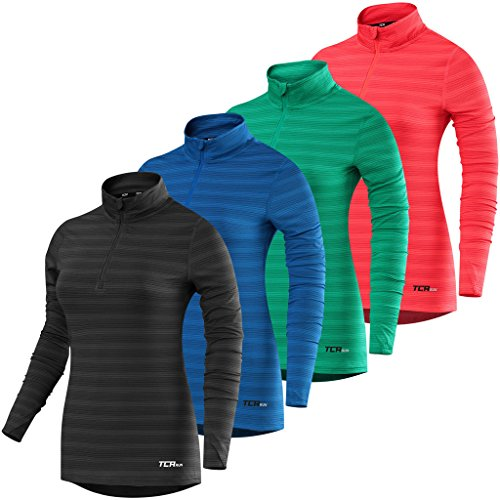 Womens-TCA-Infinity-Half-Zip-Long-Sleeve-Running-Top