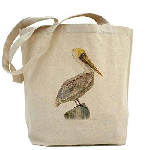 Pelican Tote Bag - Natural Canvas Tote Bag