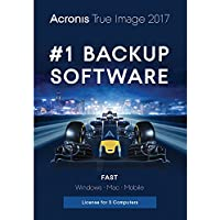 Acronis True Image 2017 Backup & Utilities Software for 3 Devices (3 Devices / 1 Year) for Free