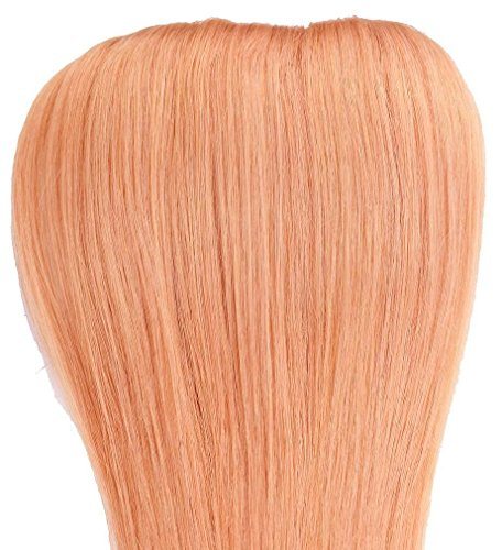 Yazilind Clip in Straight Remy Real Human Hair Extensions 20″ 70g 7pcs 27# Strawberry Blonde Full Head Set