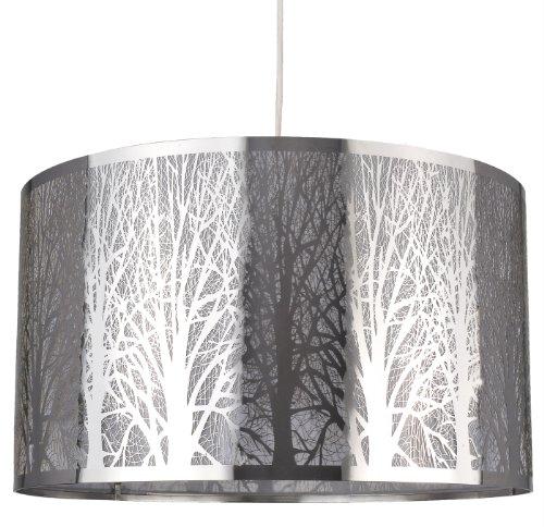 Boudet C Création 273787 - Lampada a sospensione in metallo Bosquet, diametro: 39 cm, 60 W, E27, 230 V, colore: Argento