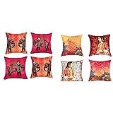 """Sej By Nisha Gupta HD Digital Print Silk 16"""" By 16"""" Cushion Cover - Multicolor - B00NA2AMGC"""