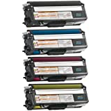 Do it Wiser Compatible Toner Set Black Cyan Magenta Yellow For Brother HL-4140CN HL-4150CDN HL-4570CDW MFC-9460CDN MFC-9560CDW MFC-9970CDW - TN315BK TN315C TN315M TN315Y TN315 - Black Extra High Yield 6,000 pages and Color Extra High Yield 3,500 pages (4 Pack)