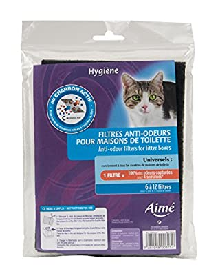 Aime Anti-Odour Filters for Cat Litter Boxes - Pack of 3
