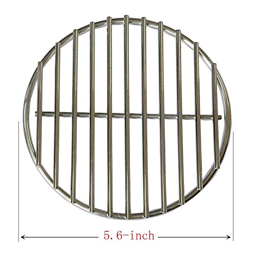 BBQ funland 304 Stainless Steel High Heat Charcoal Fire Grate for Large and Minimax Big Green Egg Grill (5.6-inches) (Cast Iron Bbq Doors compare prices)