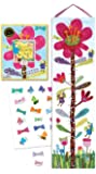 eeBoo Hot Pink Flower Growth Chart