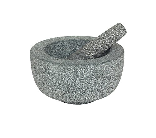 Granite Pestle and Bowl Shape Mortar Size: Medium
