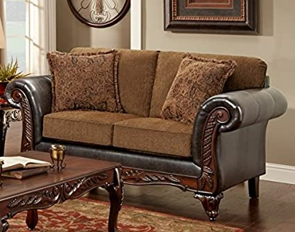 Chelsea Home Furniture Sheila Loveseat, Wink Chestnut