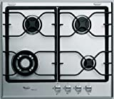 WHIRLPOOL AKT 680 IXL iXelium Stainless Steel Gas Hob with 4 burners