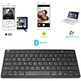Rii BT09 Ultra Slim Portable Wireless Bluetooth Keyboard For Windows Devices Ipad Mini Iphone MacBook Pro Tablets...