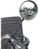 自転車 バックミラー YW-GF5 広角凸面鏡 バッチリ見える 曲げ、捻り角度調整も自由自在!