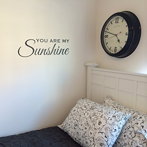 You Are My Sunshine Wall Decal, Kids Rooms, Nursery Decoration, black vinyl
