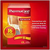Thermacare Air Activated Heat Wraps - 6 Back / Hip One-time Use Wraps - Size L/xl