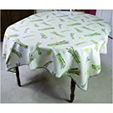 Asparagus Asperges Heavy Duty 110 inch French Print Tablecloth