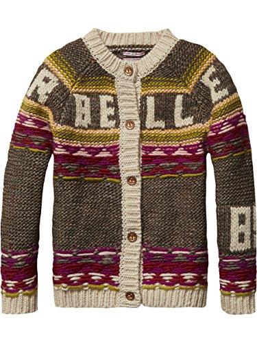 Scotch R'Belle Mädchen Strickjacke Chunky Hand Knitted Cardigan