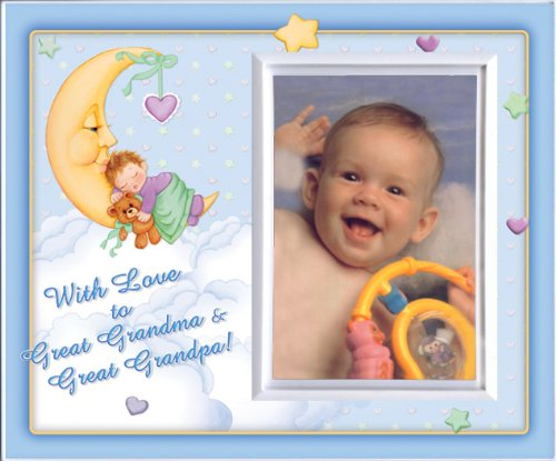 With Love toGreat Grandma & Great Grandpa -Boy (MoonBaby) - Picture Frame Gift - 1