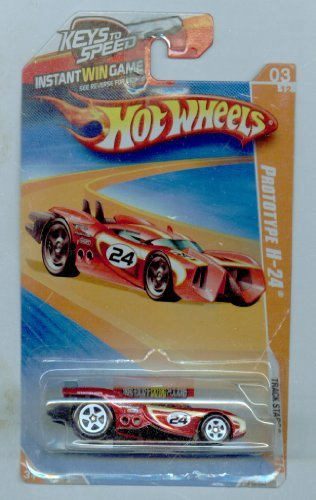 Hot Wheels 2010-059/240 Track Stars 03/12 Prototype H-24 Keys to Speed Instant Win Card RED 1:64 Scale