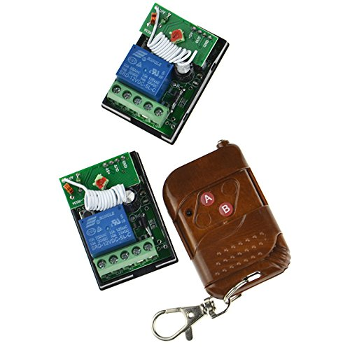 10A-1CH-DC-12V-Wireless-Remote-Control-Peach-Wood-Switch-Transmitter-Receiver